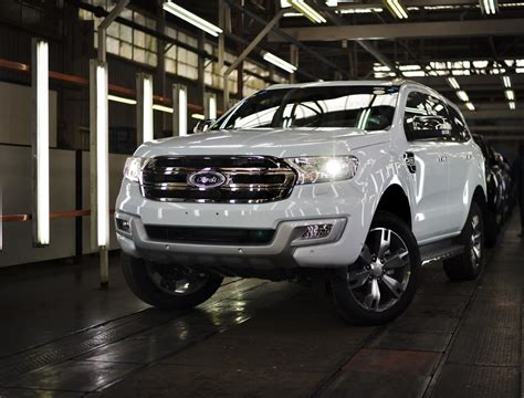 ford south africa ford starts building everest suv in south africa cars co za