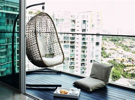 balcony swings 20 cozy balcony decorating ideas bored panda
