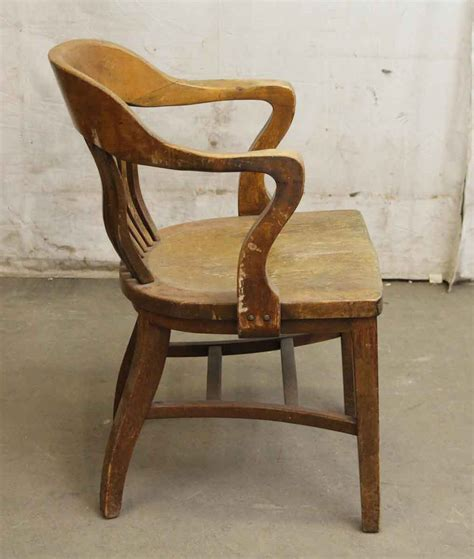 single antique bankers chair olde things