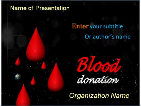 blood donation powerpoint template blood donation powerpoint