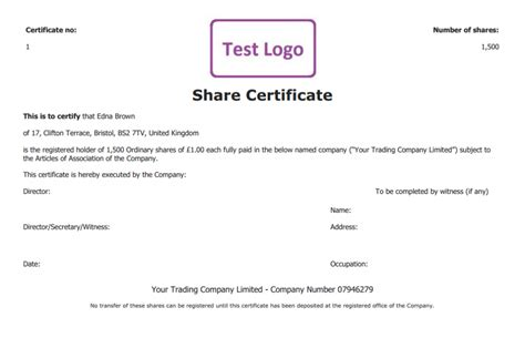 free share certificate template create perfect share