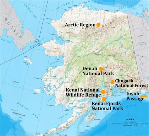 Alaska Denali National Park Map   2017   2018 Best Cars