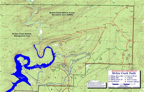 topographical map of oklahoma mcgee creek scenic recreation area oklahoma free
