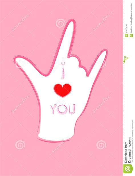 images of love symbol in hands hands symbol of i love you stock photo image 37442750