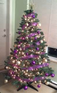 purple decorations for tree best 25 gold tree ideas on