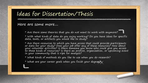 ideas for dissertation topics how to select dissertation topic or thesis statement