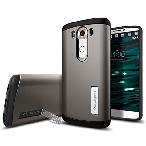 Spigen Slim Armor Leather best lg v10 cases android authority