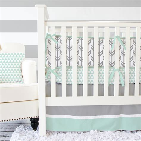 mint baby bedding gray mint arrow baby bedding gender neutral crib set
