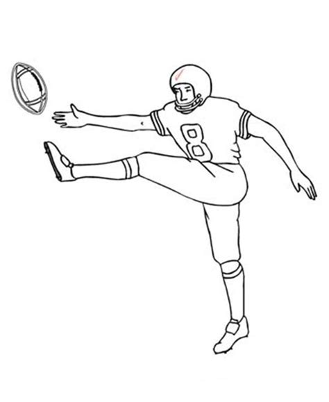 football guy coloring page 94 coloring page of boy playing football coloring