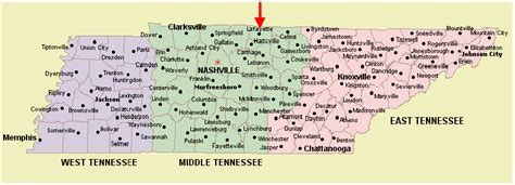 tennessee on a map of the united states tennessee map