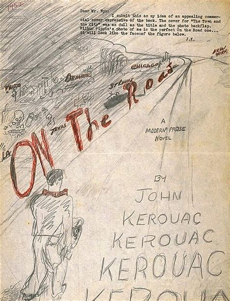 on the road books kerouac s own on the road book cover huh