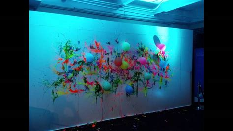 glow in the wall paint uk glow in the neon blacklight balloon dart wall with