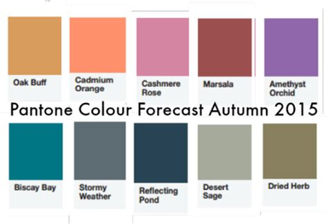 pantone color forecast pantone colour forecast for autumn winter 2015 paperblog
