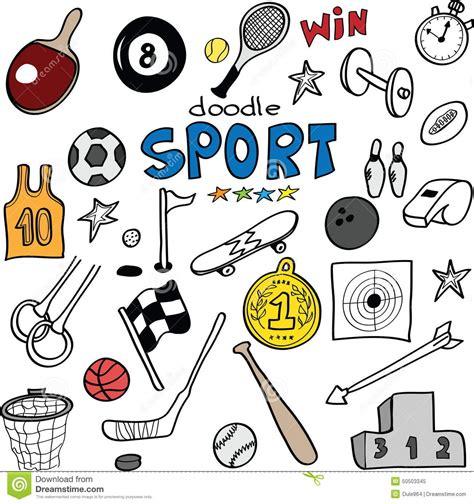 doodle sports free vector doodle sports illustration stock illustration image