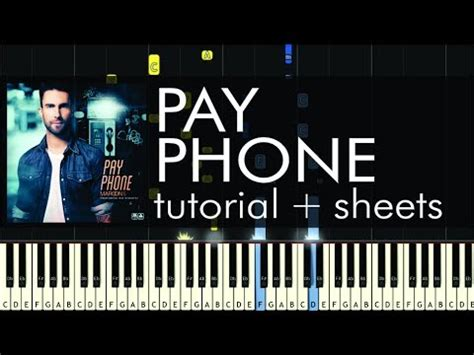 tutorial piano payphone maroon 5 payphone piano tutorial how to play sheet