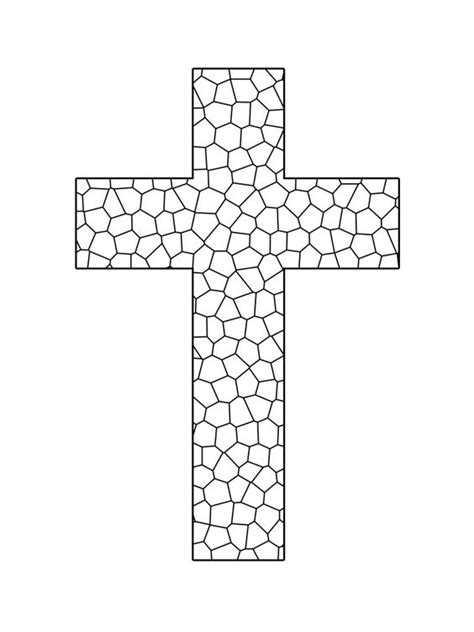 christian mosaic coloring pages stained glass cross printable coloring sheet sunday