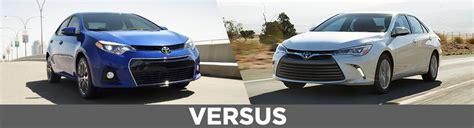 Toyota Corolla Vs Toyota Camry New 2015 Toyota Corolla Vs Camry Model Comparison