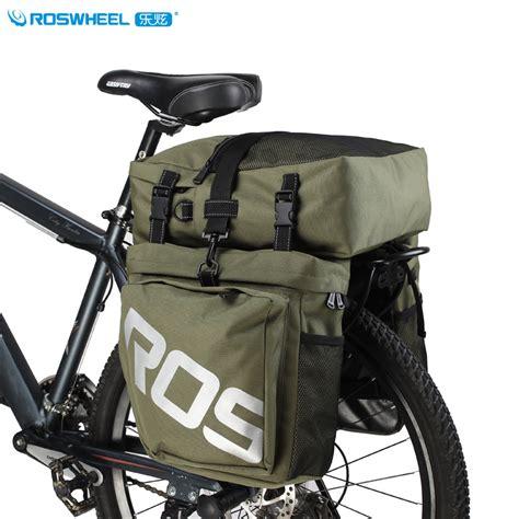 Roswheel Tas Sepeda Rear Seat Rack 14236 aliexpress buy roswheel 37l 3 in 1 bicycle