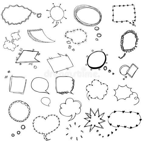 free doodle speech vector speech sketch of free drawing vector