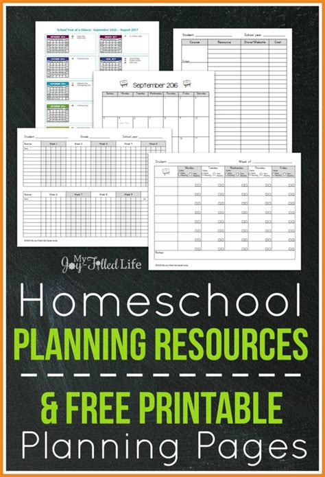 free printable homeschool planner pages top homeschool planning resources free printable