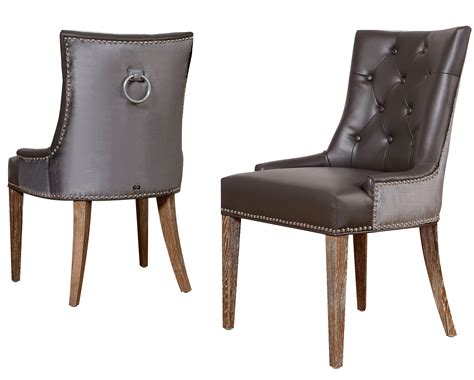 uptown leather velvet dining chair set of 2 from tov upt
