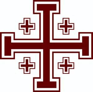 The jerusalem cross the cross of cornerstone