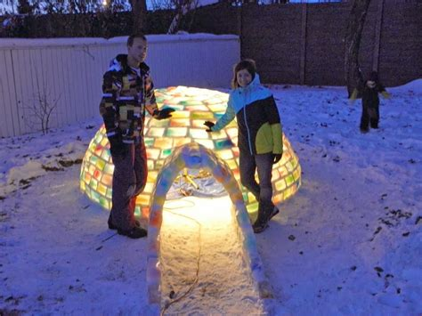 how to make an igloo in your backyard what this couple built in their snowy backyard made me