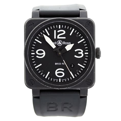 Bell And Ross bell ross aviation br03 92 black carbon mens