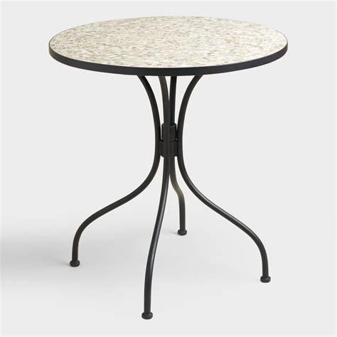 Grey Bistro Table Gray Cadiz Bistro Table World Market