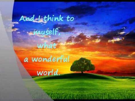 wonderful world louis armstrong what a wonderful world lyrics