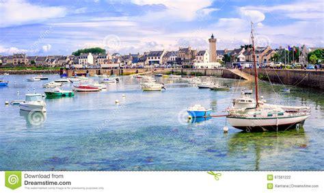 porto bretagna le barche pescatore nel porto di roscoff bretagna