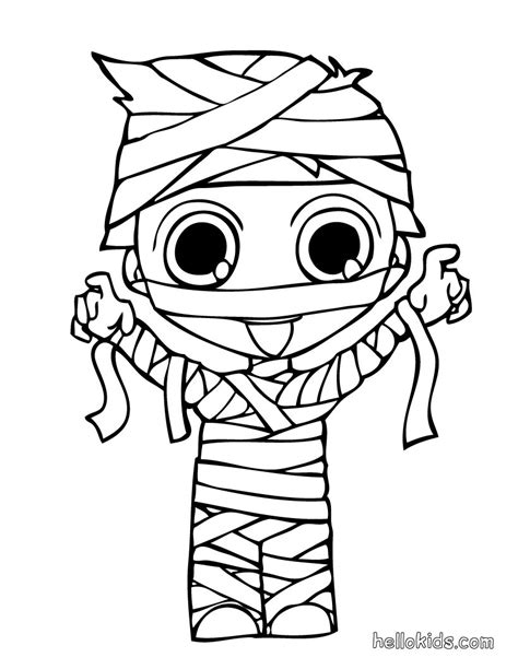 Mummy S Son Coloring Pages Hellokids Com Mummy Coloring Pages