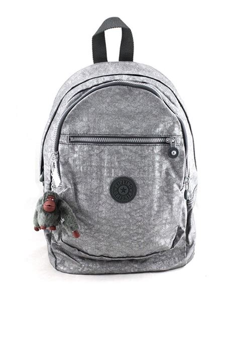 mochila backpack kipling gris antimonio met 225 lica con envio
