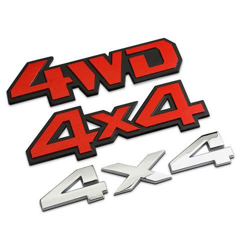 Emblem 4 X 4 Original Auto aliexpress buy new car metal chrome 4wd 4x4 displacement emblem badge all wheel drive auto
