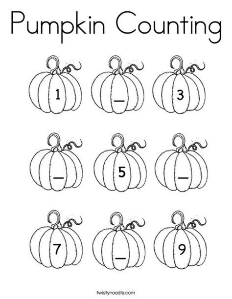 multiple pumpkin coloring pages pumpkin counting coloring page twisty noodle