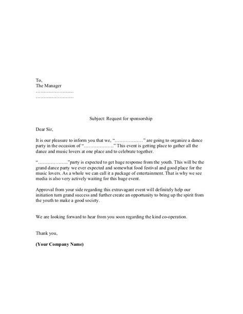 Sponsor Letter Of Recommendation sponsor letter sponsorship sponsor recommendation letter