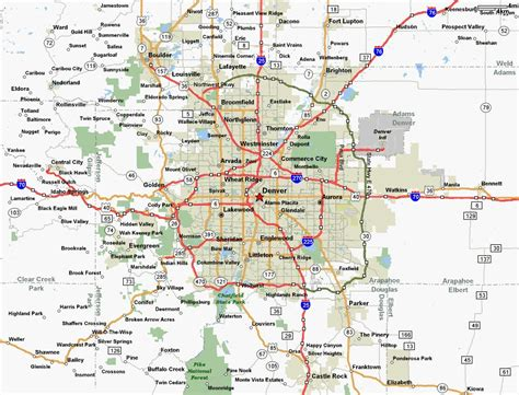 map of denver area denver area map home search