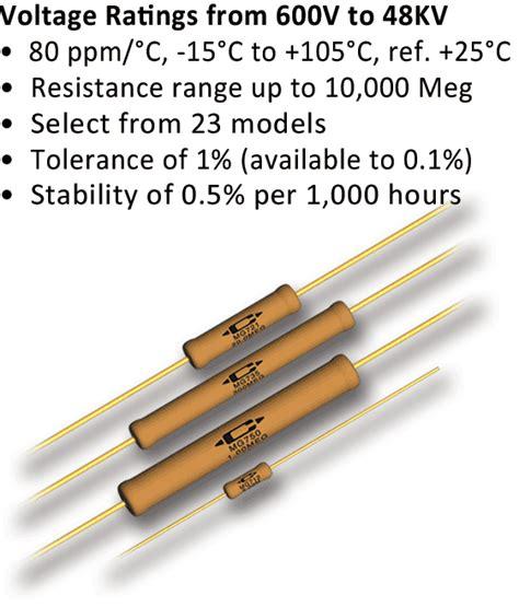 high voltage resistor caddock s precision high voltage resistors