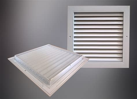 Ceiling Air Vent Filters by Square Aluminium Alloy Louvered Air Louvre Filter Vent For