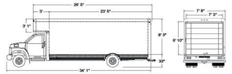 floor length of typical 3 trailer 26ft moving truck rental u haul