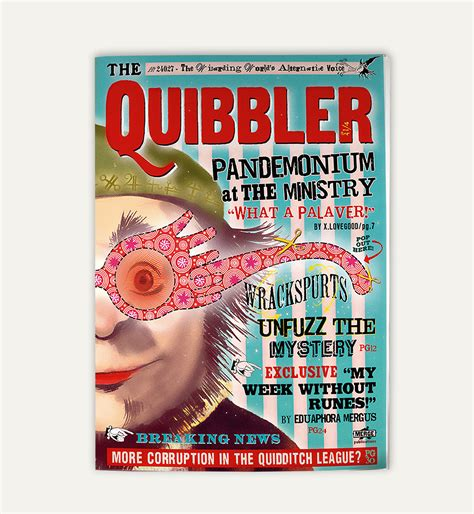 free printable quibbler quibbler magazine two sided cover and interior pages