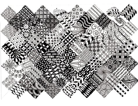 pattern of zentangle zentangles learning to paint for art s sake