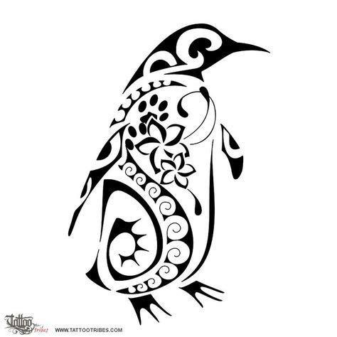 tribal penguin tattoos maori tribal penguin design jpg 736 215 736 diy and