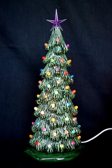 ceramic christmas tree 10 5 inches tall slim tree xmas