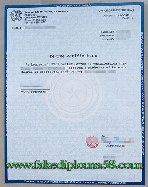 Ged Verification Letter How To Get The A M Commerce Degree Verification Fakediploma58