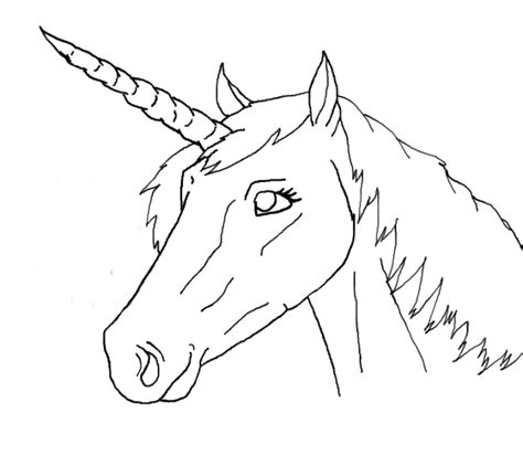 coloring pages unicorn head free use unicorn head lineart by arandomhorselover on