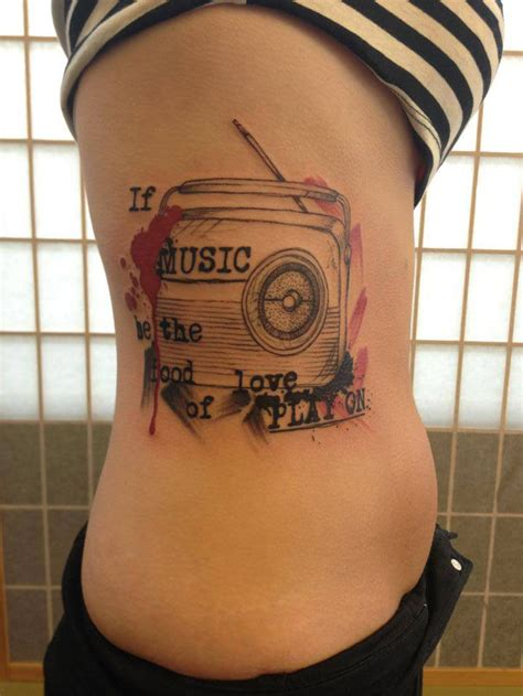 radio tattoos designs if be the food of play on best ideas