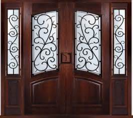 Two Front Doors Prehung Custom Door With Two Sidelights Bellagio Style Traditional Front Doors