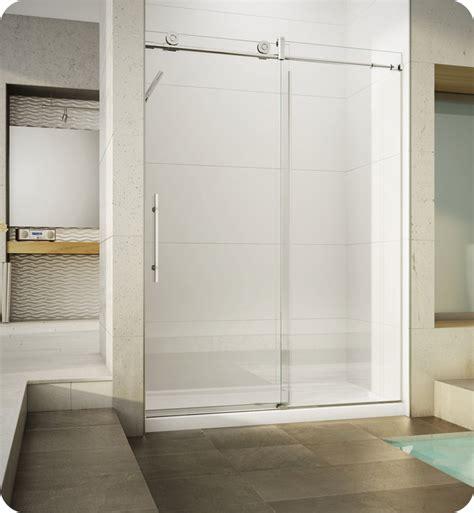 Fleurco Shower Doors Fleurco Kn45 Kn Kinetik In Line 48 Sliding Shower Door And Fixed Panel With Flush Pull Handle