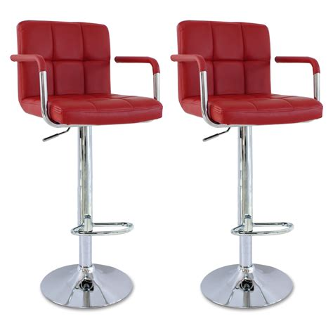 Bar Stool Kitchen Set by Faux Leather Bar Stools Set Of 2 Kitchen Breakfast Bar
